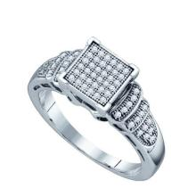 925 Sterling Silver White 0.20CTW DIAMOND MICRO PAVE RING #58341v2