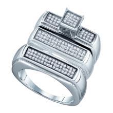 925 Sterling Silver White 0.38CTW DIAMOND FASHION TRIO SET #58304v2