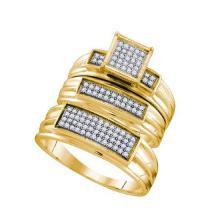 925 Sterling Silver Yellow 0.31CTWSTR1046/ DIAMOND FASHION TRIO SET #58306v2