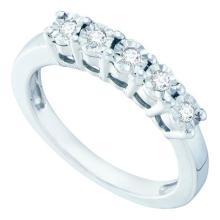 925 Sterling Silver White 0.15CTW DIAMOND FANUK RING #58000v2