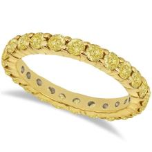 Fancy Yellow Canary Diamond Eternity Band 14k Yellow Gold (2.00ct) #20522v3
