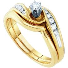10K Yellow-gold 0.25CTW DIAMOND BRIDAL SET #64884v2