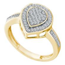10K Yellow-gold 0.20CT DIAMOND MICRO PAVE RING #67389v2