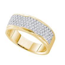 10K Yellow-gold 0.50CT DIAMOND MICRO PAVE BAND #67384v2
