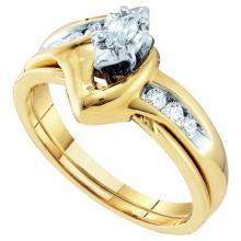 10KT Yellow Gold 0.24CTW DIAMOND LADIES BRIDAL RING #50709v2