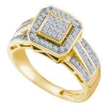 10K Yellow-gold 0.25CT DIAMOND MICRO PAVE RING #67391v2