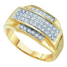 10K Yellow-gold 0.33CTW DIAMOND MICRO PAVE RING #64268v2