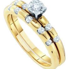 10K Yellow-gold 0.27CTW DIAMOND BRIDAL RING #64886v2