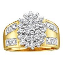 10KT Yellow Gold 0.50CTW DIAMOND CLUSTER RING #50599v2