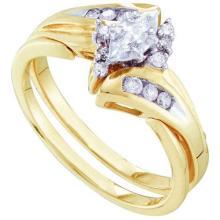 14KT Yellow Gold 0.25CTW DIAMOND BRIDAL RING #64885v2
