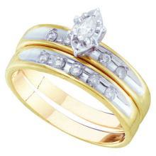 14KT Yellow Gold 0.50CTW DIAMOND TRIO SET #64888v2