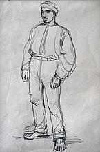 László Mednyánszky (Hungarian, 1852-1919), Shepherd boy