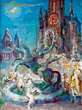 Vladimir Szabó (Hungarian, 1905-1991),Masked carnival