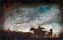 Gyula Rudnay (Hungarian, 1878-1957), Horse thief