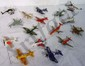 Die cast metal airplanes, helicopters