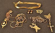 Collection of miscellaneous gold filled and other jewelry, 19dwt