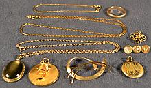 Miscellaneous gold filled jewelry, 26.4dwt