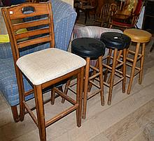 Four miscellaneous stools