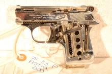 1960 Skeletonized Astra Cub model 2000 .22 short semi-automatic pistol, s# N/A, no registration