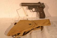 German 26.5mm Diana Signal Pistol, s# 201777 08/74, canvas holster