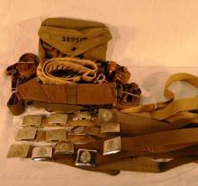 European military belts, straps, etc
