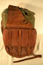 US WWI Cavalry Saddlebags, stamped BOYT 1917 G.H.