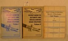 3 Paperback Books by Dna Ernst: Guide to Foreign & US Bayonets & Miscellaneous Edged Weapons 1970, Pocket Guide to Bayonets and Miscellaneous Edged Weapons Vol. I&II 1978