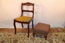 Chair, stool and corner shelf
