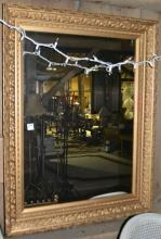 Gilt frame wall mirror, 28