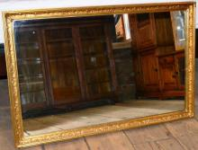 Large gilt framed wall mirror, 34