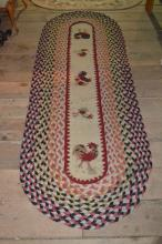 Approx 8' oval braided runner
