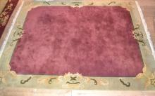 Room size rug, burgundy ground with padding 8'x10