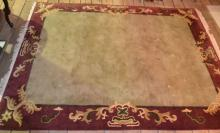 Room size rug celadon ground with padding 8'x10