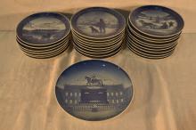 26 Royal Copenhagen porcelain annual plates