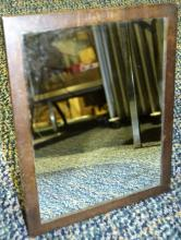 Sterling silver framed table mirror engraved JVD