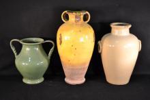 Three large pottery jars