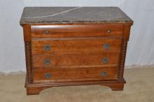 Pennsylvania House solid cherry marble top four drawer dresser, en suite to #424