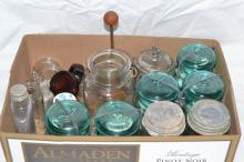 Collection of Mason and other jars
