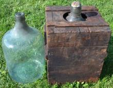 Two 12gal. glass acid bottles, one stamped