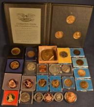 27 Commemorative medallions, various compositions and subject matters
