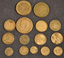 Collection of 15 foreign silver coins