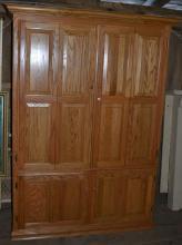 Large oak four door workstation