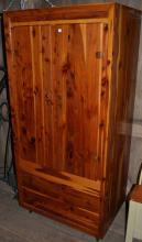 Solid cedar two door wardrobe