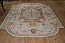Juliette Aubusson 7.3'x9.3' wool Chinese sculpted carpet