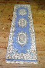 Chinese wool runner, 7.6'x2.3'