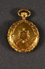 Waltham 14kt gold pocket watch, #14936510 works with 15 lewels, case #184565