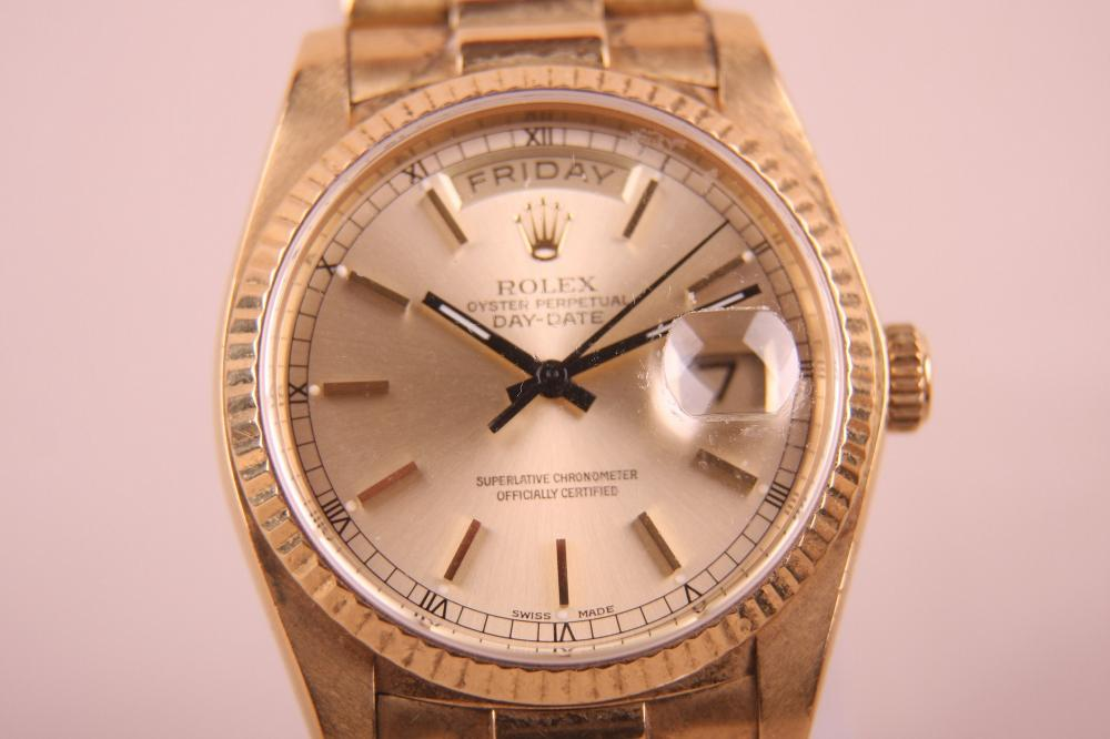 MENS 18K ROLEX PRESIDENTAL WRIST WATCH