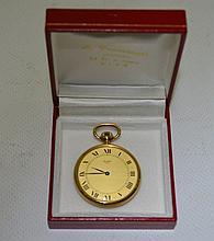 montre de poche en or jaune extra plate 28 grammes