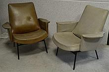Pierre GUARICHE (1926-1995) paire de fauteuils SK