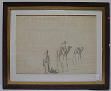 Louis RANDAVEL (1869-1947)   Nomades,   en